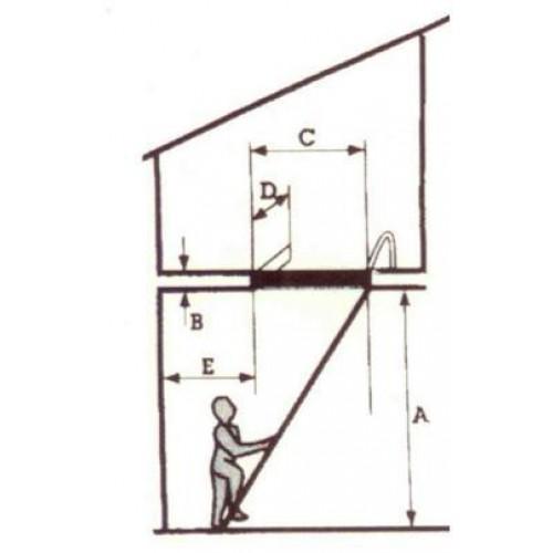 concertina steel loft ladder loft ladders ladders. Black Bedroom Furniture Sets. Home Design Ideas