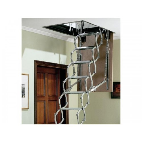 concertina aluminium saf dimes loft ladder unit loft ladders. Black Bedroom Furniture Sets. Home Design Ideas