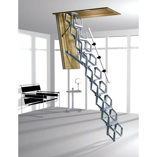 Aluminium Loft Ladder Dsc Concertina Type Lofts Amp Ladders