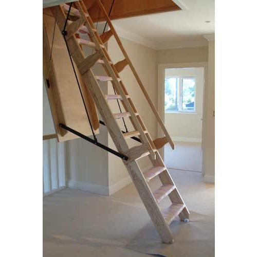 Electric Sandringham Timber Folding Loft Ladder Unit Loft Ladders