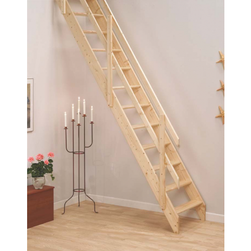 Dolle Lisbon Space Saving Timber Ladders Staircase Kit