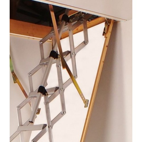 telescopic handrail columbus concertina loft ladder. Black Bedroom Furniture Sets. Home Design Ideas