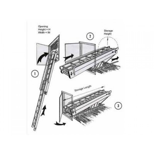 Carriage access vertical loft ladder loft ladders for Acces vertical